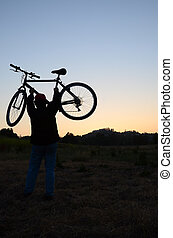 Mountain Biker - Evening mountain biker