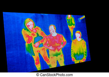 Thermal Image - photo of thermal image screen for background