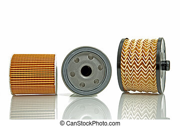fuel filter and two oil filters - filters for diesel and...
