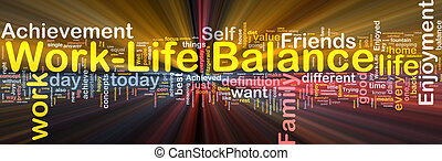 Work?life balance background concept glowing