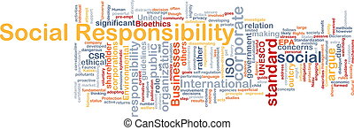 Social responsibility background concept - Background...