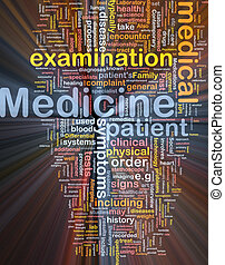 Medicine background concept glowing - Background concept...