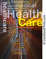 Health care background concept glowing