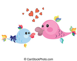 Mothers day ,fish,vector