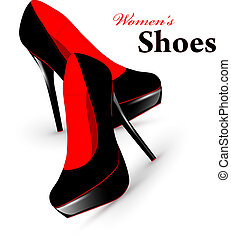 Woman shoes - Illustration of fashion high heel woman shoes