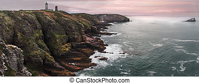 Cap Frehel panorama - Spectacular lighthouse in France...