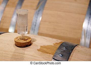 fermenting wine - closeup fermenting wine