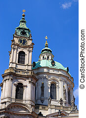 St. Nicholas Cathedral - Steeple and clock tower of St....