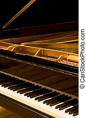 Grand Piano with cover open - A Concert Grand Piano, a...