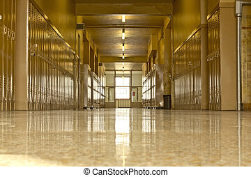 Empty high school corridor - An empty high school corridor...