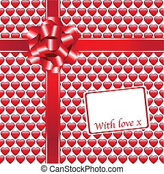 Glossy hearts gift