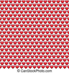 Glossy hearts seamless