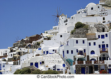 Santorini island - Architecture on Santorini island, Greece...