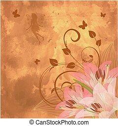 floral retro fantasy