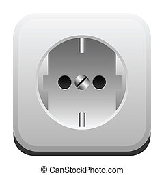 Electrical outlet - Illustration of electric power outlet on...