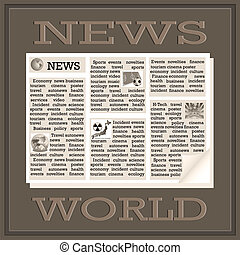 World News - Newspaper icon of the international news