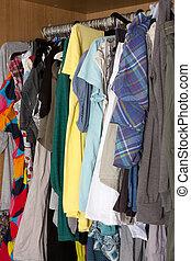 rörig, garderob