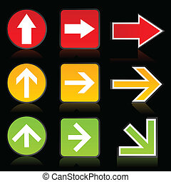 Arrow of a traffic light - Collection of arrows for web...