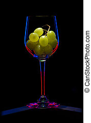 glass black one grapes  abstract red blue