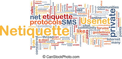 Netiquette background concept