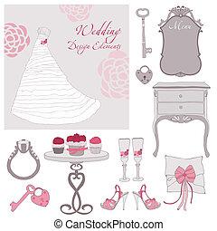 Wedding design elements in vector