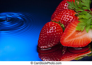 strawberry red blue aqua diet fresh natural