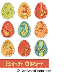 Easter Eggs Design Elements for Scrapbooking