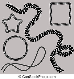 Twisting Rope Set - An image of a set of twisted rope...