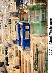 Architecture details of Malta - Traditional closed wooden...
