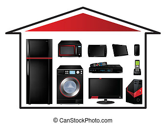 Home appliances concept - Vector