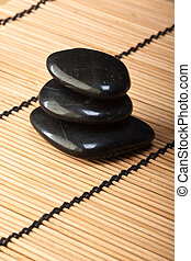 pile of black basalt stones for thermotherapy (2) - pile of...