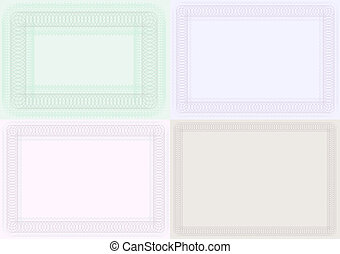 Blank Certificate Backgrounds