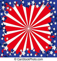 Stilisiert, amerikanische, Fahne