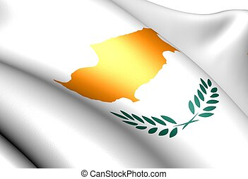 Flag of Cyprus. Close up.