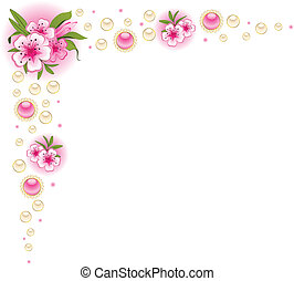 Beautiful background with flowers. - Beautiful background...
