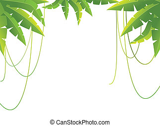tropical branches - Beautiful background with tropical...