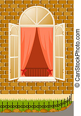 facade of house with window