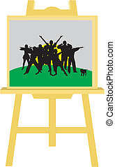 Drawing commands on the easel