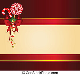 Christmas candy cane decorated bow