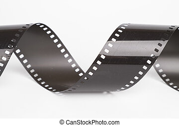 35mm film negative - 35mm film rolls on white background