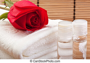 rose extract for aromatherapy - bottles of rose extract for...