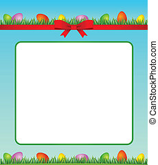 Easter Eggs background - Eggs in grass. Easter card