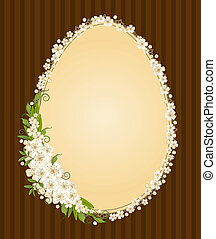 lace ornaments and flowers Easter card