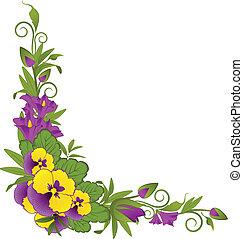 Violets on background.