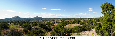 New Mexico plains - Panorama of the plains of Northern New...