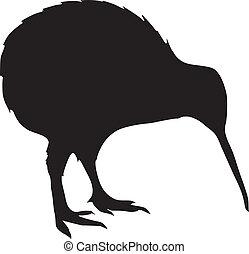 kiwi - silhouette of kiwi