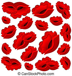 red flowers - Vector Beautiful background from red flowers