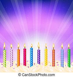 Urodziny, świece