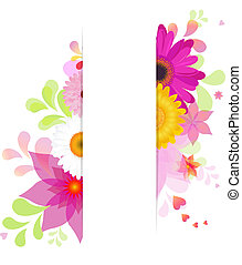 Flower Background With Gerbers - Nature Background With...