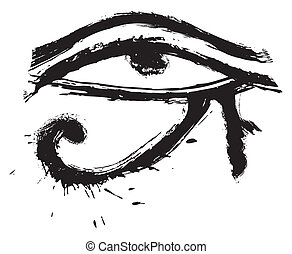 Eye of Horus - Egyptians religion symbol created in grunge...
